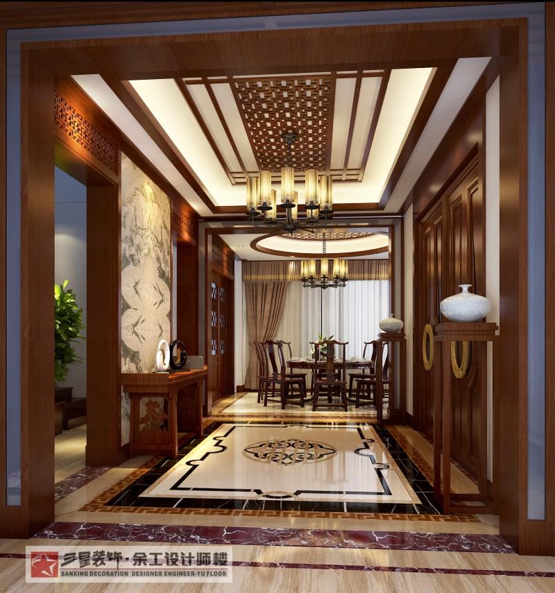 桃花岛 别墅 中式风格