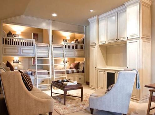 空间二合一 创意十足高低床设计