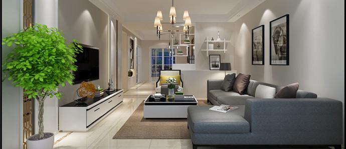 江南新城的现代三居室